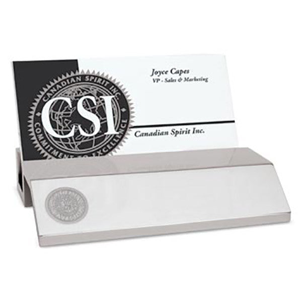 Silver Tone Business Card Holder