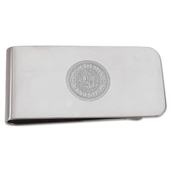 Polished Silver Toned Money Clip
