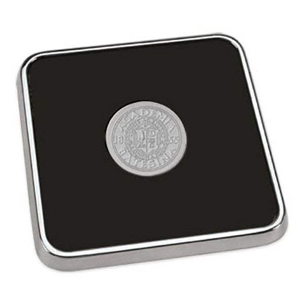 Polished Silver Square Coaster - Commencement