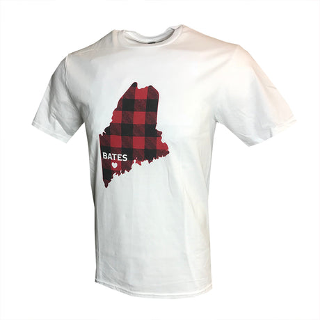 State of Maine in Plaid T-Shirt