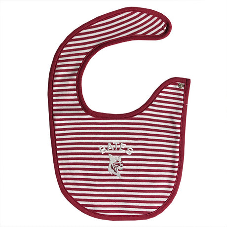 Garnet and White Striped Bib