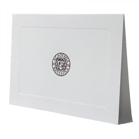 Bates Seal White Blank Cards - Cards, Commencement, Gifts