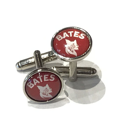 Bates Bobcat Mascot Cufflinks - Bobcat Spirit, Commencement, Jewelry