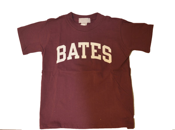 Maroon Bates Youth Tee Shirt