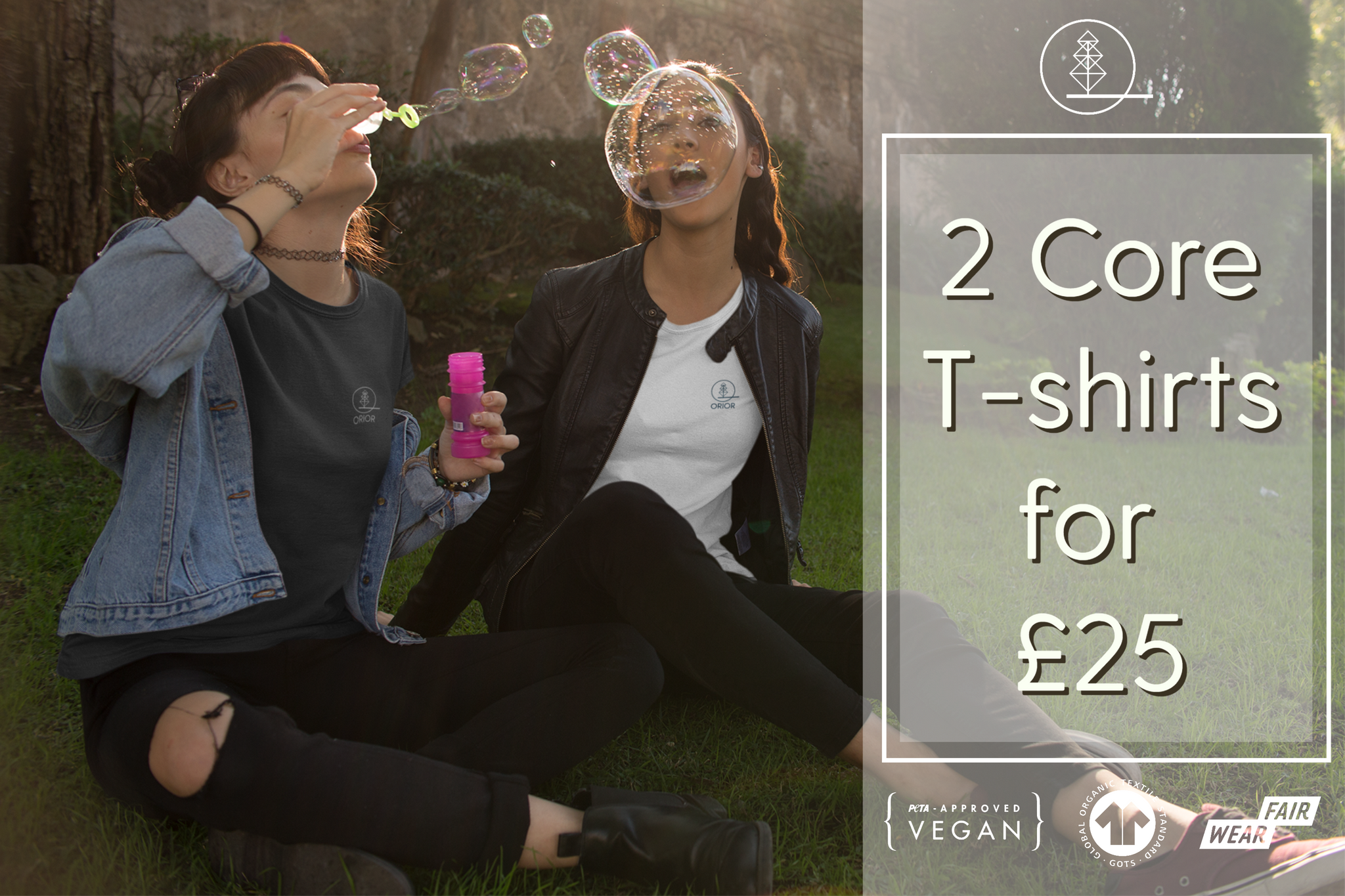 2 Organic T-shirts for £25