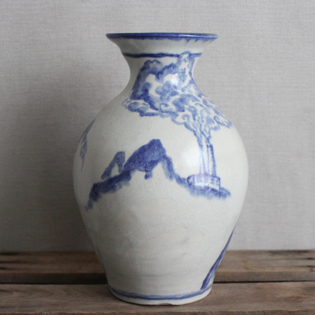 Blue and White Smoke Vessel