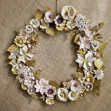 Load image into Gallery viewer, Patina Floral Wreath 24""