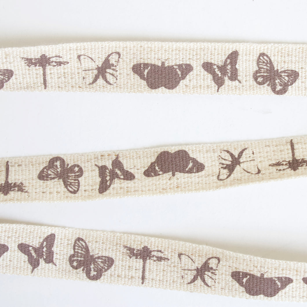 Cotton & Linen Ribbon with Print