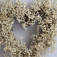 Load image into Gallery viewer, Baby's Breath Heart Wreath