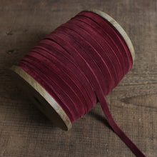 Load image into Gallery viewer, Velvet Ribbon by the yard - 3/8""