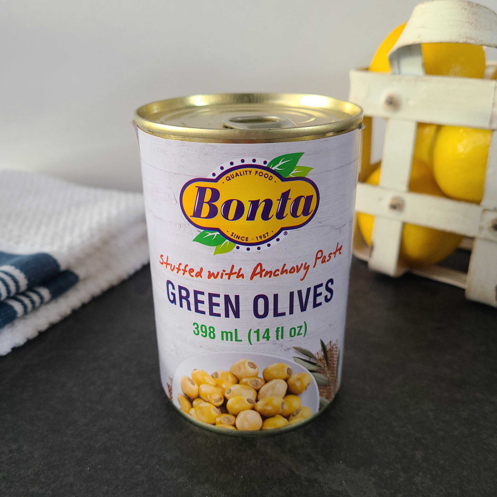 Green Olives with Anchovy Paste