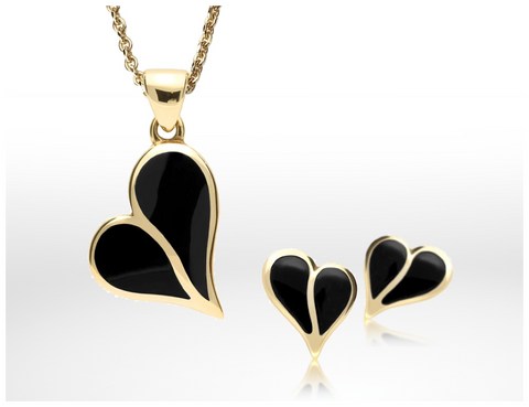 9ct-yellow-gold-whitby-jet-split-heart-necklace