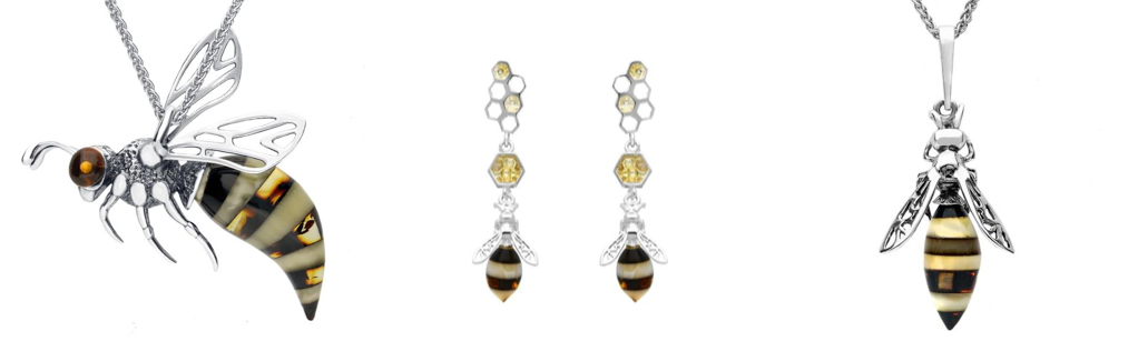 sterling-silver-amber-bee-earrings-and-necklace
