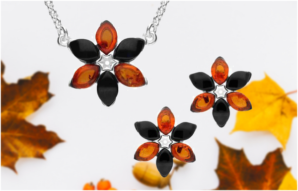 sterling-silver-whitby-jet-amber-flower-two-piece-set