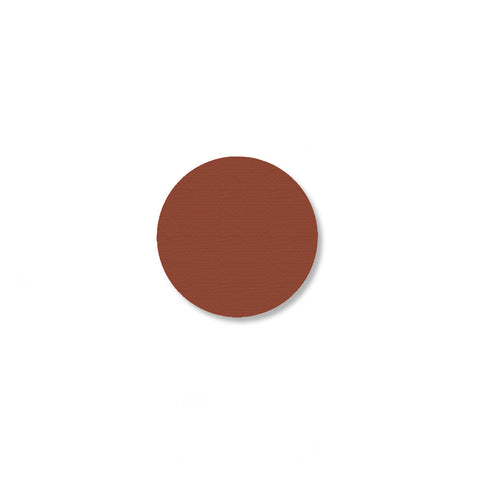 1 Inch Brown Warehouse Floor Dots - Pack of 200