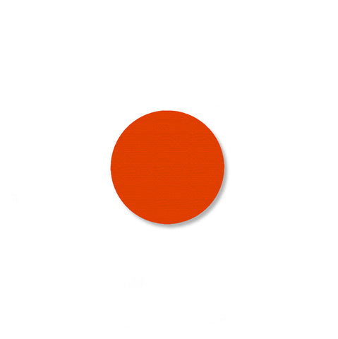 "Orange Dot Shaped Floor Tape, 1"" - Pack of 200"