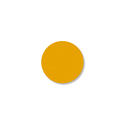 "Yellow Industrial Floor Tape Dots, 1"" - Pack of 200"