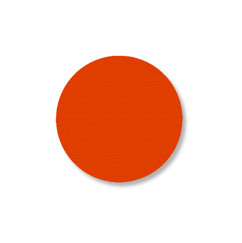 2.7 Inch Orange Industrial Marking Tape Dots - Pack of 100