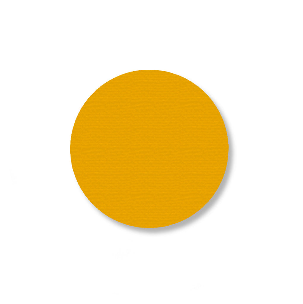 Yellow Warehouse Floor Marking Dots, 2.7""