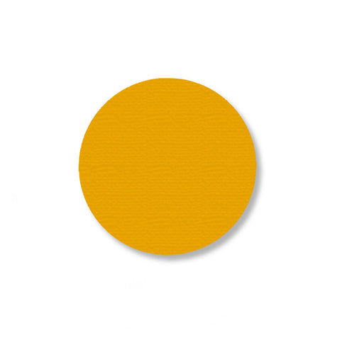 "Yellow Warehouse Floor Marking Dots, 2.7"" - Pack of 100"