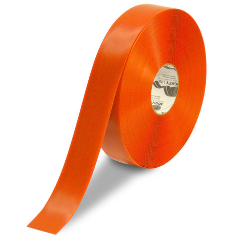 "2"" Orange Solid Color Tape - 100'  Roll"