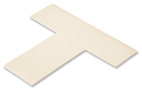 "Mighty Line White Floor T Markers, 2"" - Pack of 25"