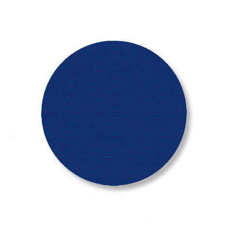 "Blue Warehouse Floor Tape Dots, 3.5"" - Pack of 100"