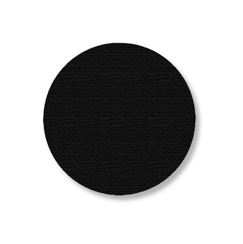 "Black Warehouse Floor Tape Dots, 3.5"" - Pack of 100"