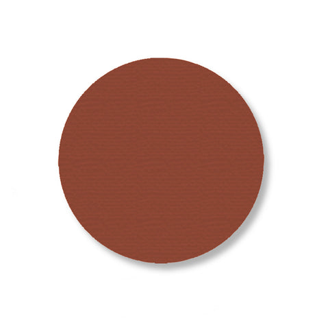 3.5 Inch Brown Safety Floor Tape Dots - Pack of 100