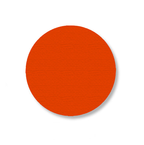 3.5 Inch Orange Industrial Floor Tape Dots - Pack of 100