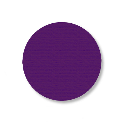"Purple Industrial Floor Tape Dots, 3.5"" - Pack of 100"