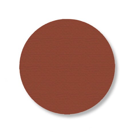 3.75 Inch Brown Industrial Floor Tape Dots - Pack of 100