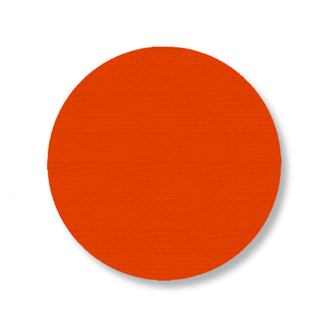 3.75 Inch Orange Dot Safety Floor Tape - Pack of 100