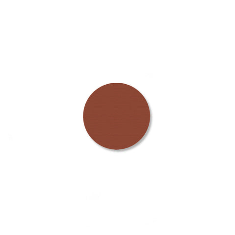 "Brown Floor Tape Dots, .75"" - Pack of 200"