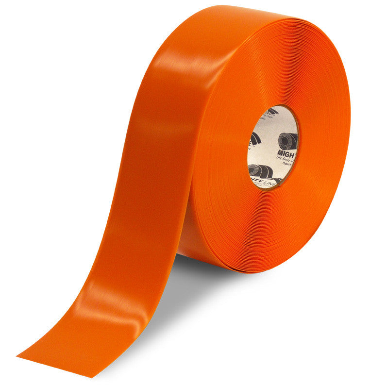 "CUSTOMIZED - 3"" ORANGE Solid Color Repeating Message Tape - 100'  Roll"