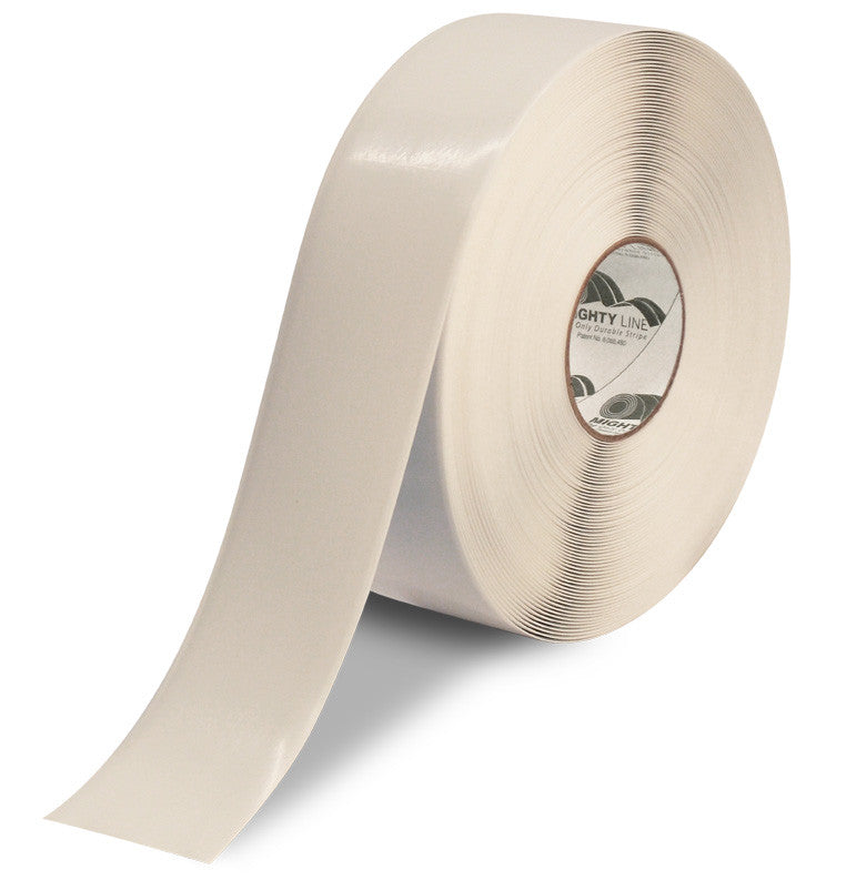 Mighty Line White Repeating Message Floor Tape