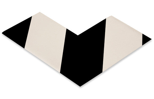 "3"" White Angle With Black Chevrons - Pack of 25"