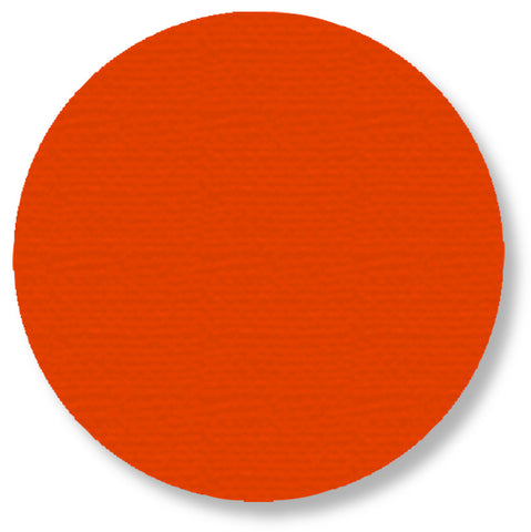 Orange 5.7 Inch Dot Safety Floor Tape - Pack of 50