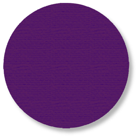 "Purple Floor Tape Dots, 5.7"" - Pack of 50"