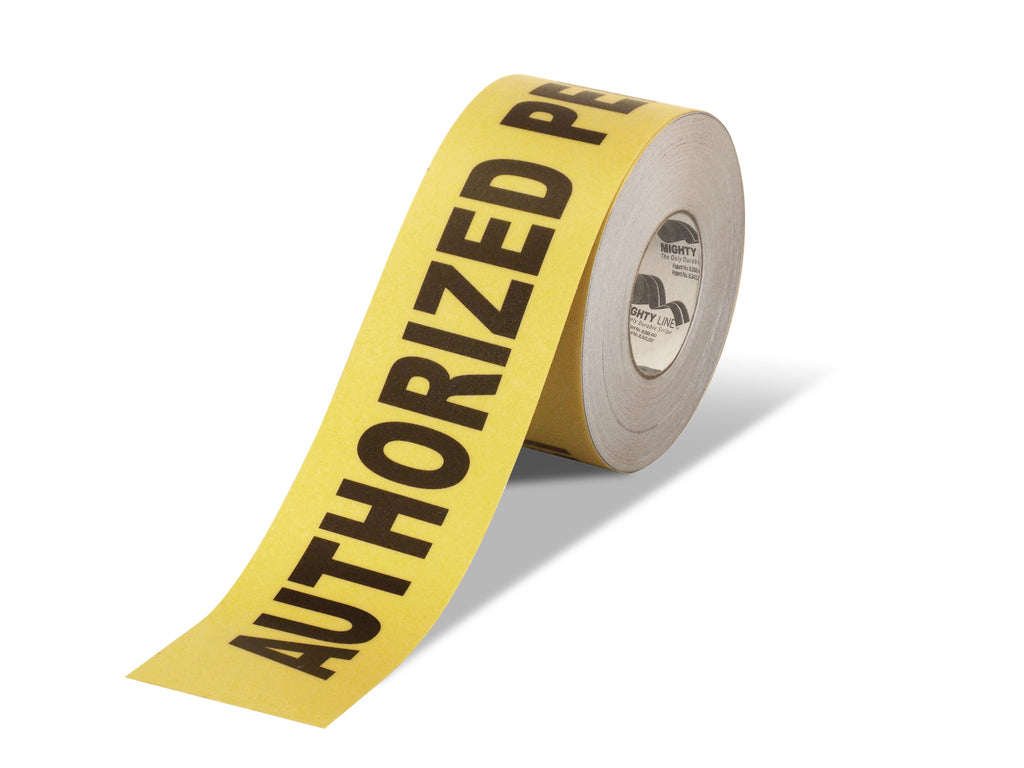 "5.5"" Wide Authorized Personnel Only Floor Tape - 100' Roll"