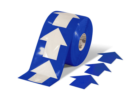 "5.5"" Wide Solid Blue Arrow Roll 200 Arrows"