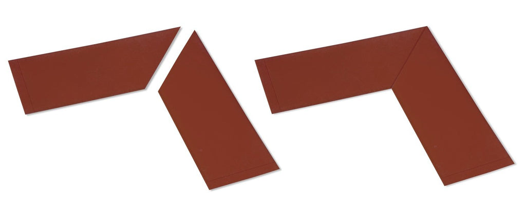 "4"" Wide Solid BROWN  10"" Long Angle - Pack of 25"