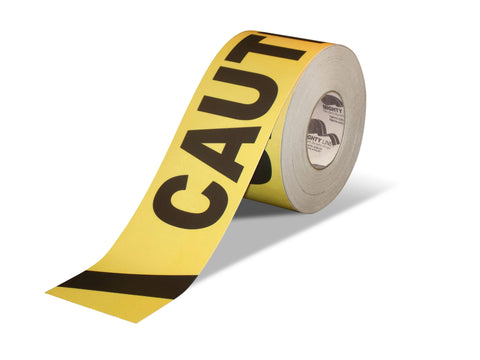 "5.5"" Wide Caution Floor Tape - 100'  Roll"