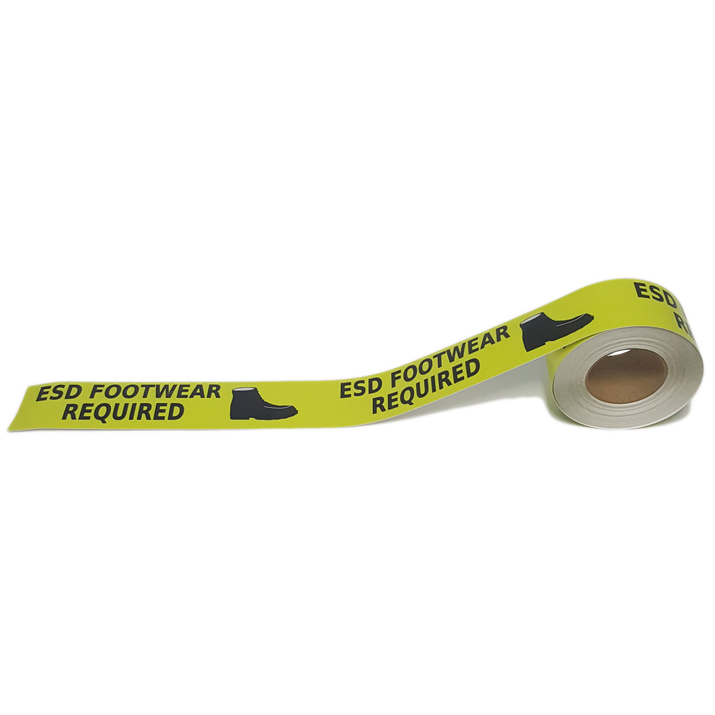 "3"" ESD Footwear Required Floor Tape"
