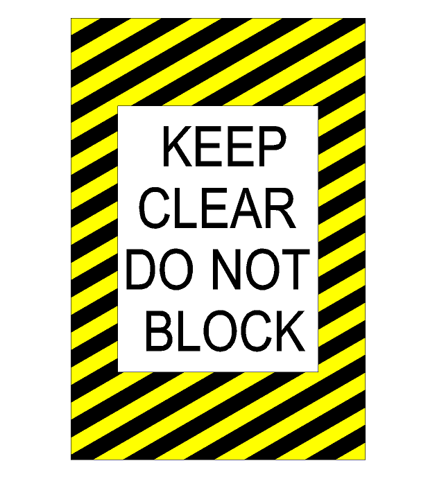 "16"" Keep Clear Bilingual Caution Sign"
