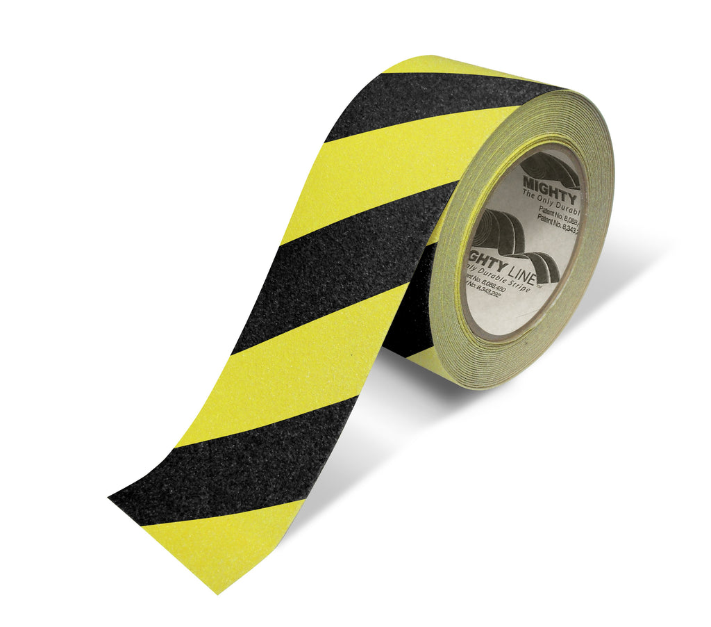 "2"" Yellow With Black Chevrons Anti-Slip Floor Tape - 60' Roll"