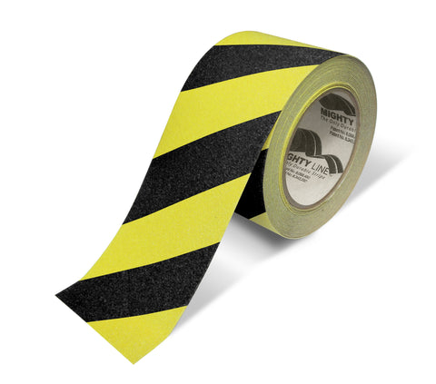 "3"" Yellow With Black Chevrons Anti-Slip Floor Tape - 60' Roll"