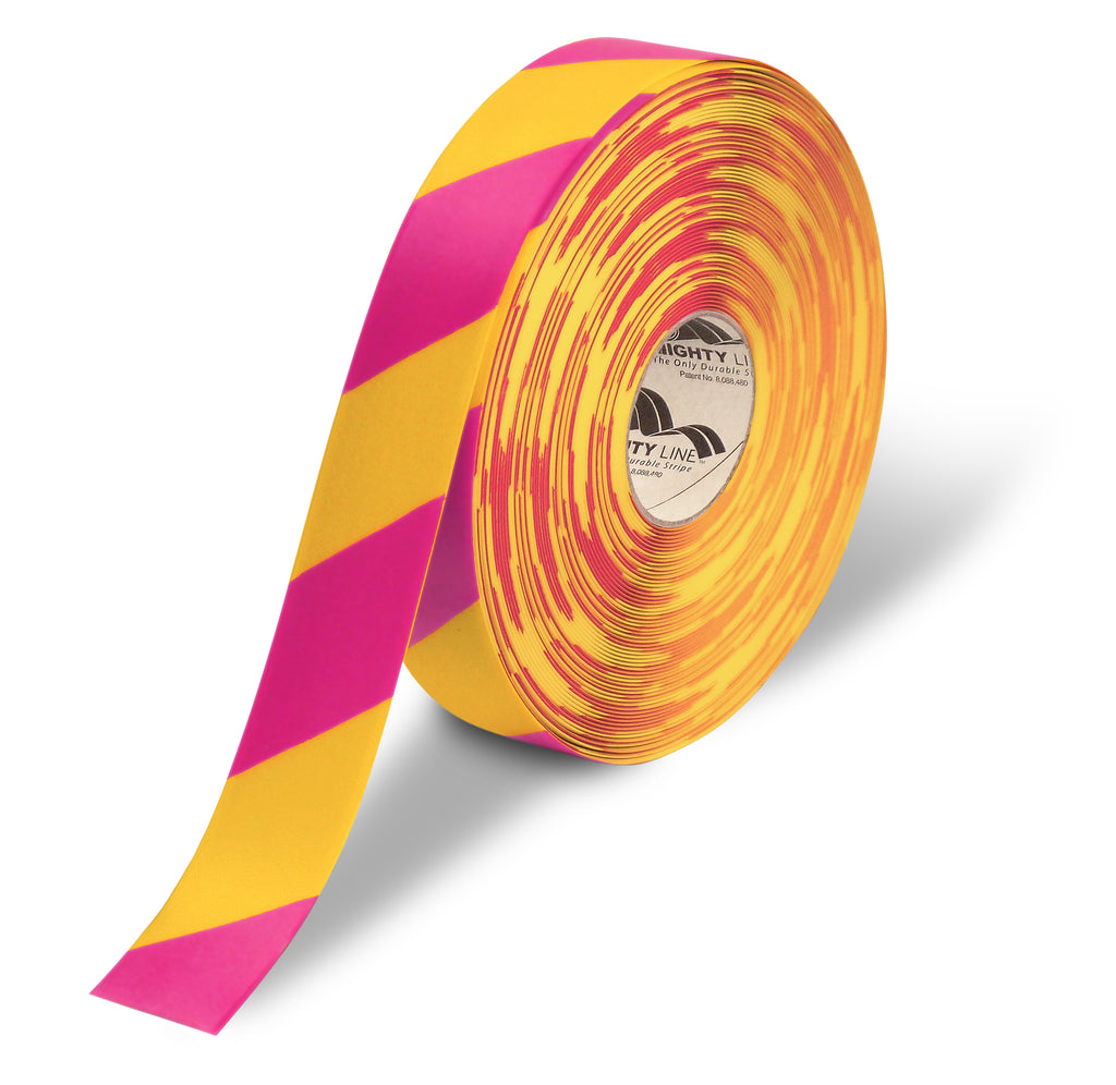 "2"" Yellow & Magenta Chevrons Floor Tape"