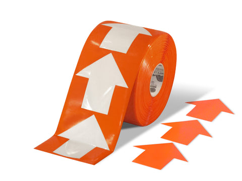 "5.5"" Wide Solid Orange Arrow Roll 200 Arrows"