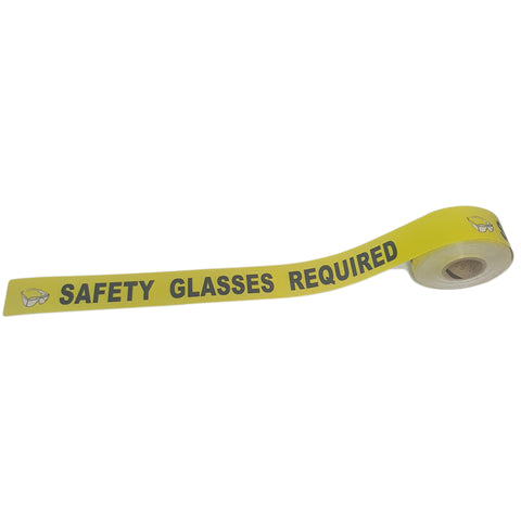 "3"" Safety Glasses Required Floor Tape"